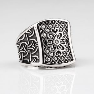 New silver ring for men
